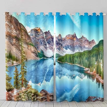 Mountain Lake Curtain Set