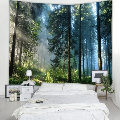 Mysterious Trees Forest Tapestry