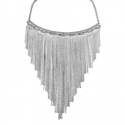 Tassel Chain Silver Necklace