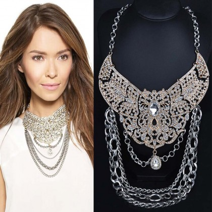 Stylish Layered Chain Necklace