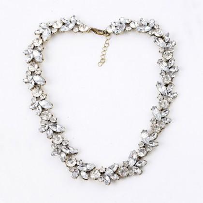 Fashion Sparkle Garland Strand Necklace