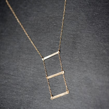 Lariat Layered Horizontal Bar Necklace