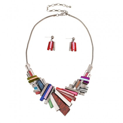 Asymmetry Geometry Necklace