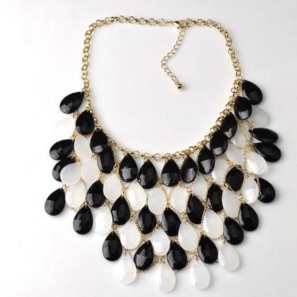 Fantastic Colorful Necklace Black and White
