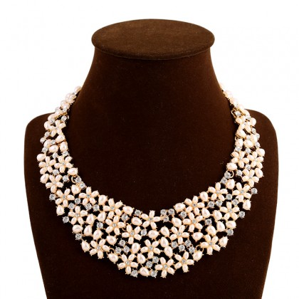Champagne Cluster Necklace
