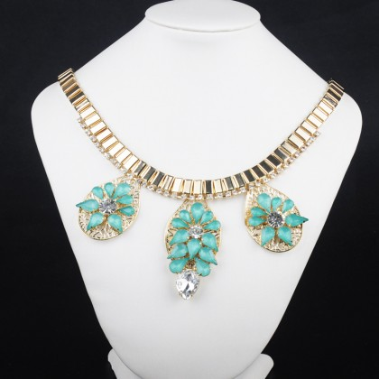 Aqua Green Necklace