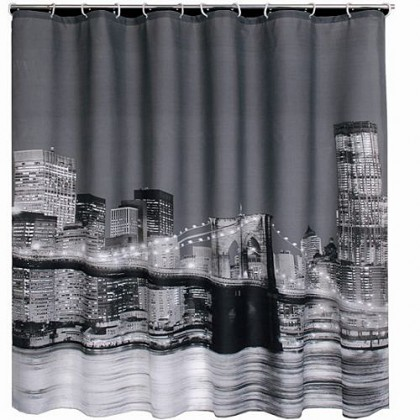 New York Brooklyn Bridge Shower Curtain