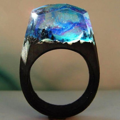 Northern Lights Resin Ring
