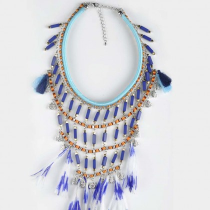 Layer Feather Necklace