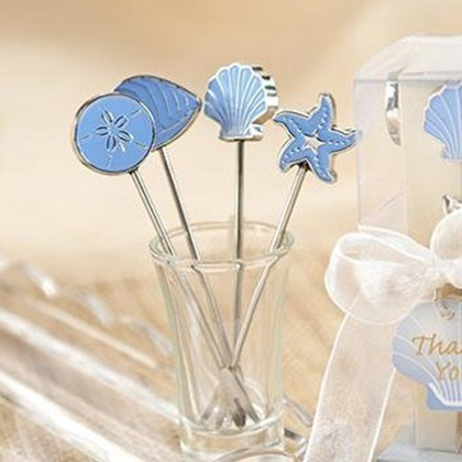 Ocean Sea Life Fruit Fork Wedding Party Favor