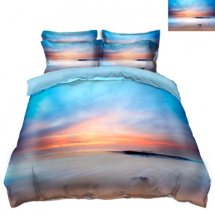 Ocean Sky Scenery Duvet Covet Set