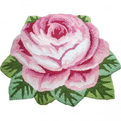 Victorian Single Rose Rug