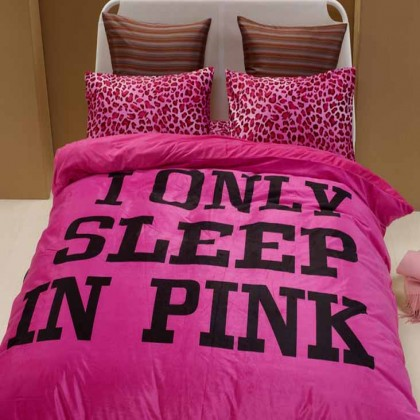 I Only Sleep in Pink Bedding Set