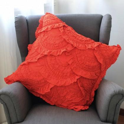 Orange Quilt Euro Sham