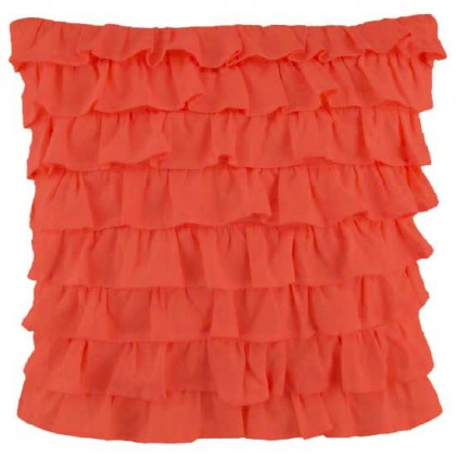 Clara Ruffled Sham, Orange