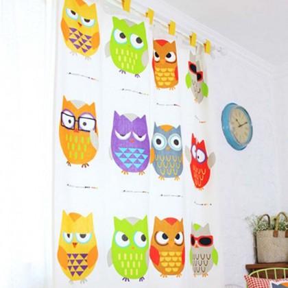 Owl Curtain Panel
