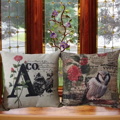 Owl Cushion Cover