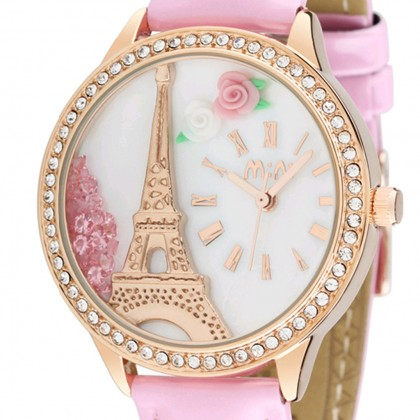 Paris Eiffel Tower 3D Watch, Pink