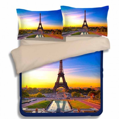 Paris Eiffel Tower Duvet Cover Set