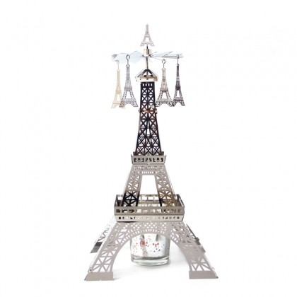 Paris Eiffel Tower Candle Carousel Merry Go Round Candle Holder