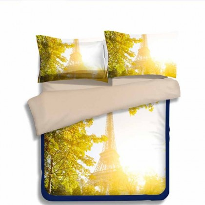 Paris Eiffel Tower Tree Duvet Cover Set