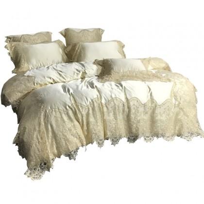 Paris Silk Simply Luxury Lace Duvet Cover Set
