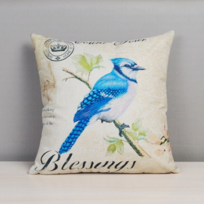 Colorful Bird Cushion Cover A