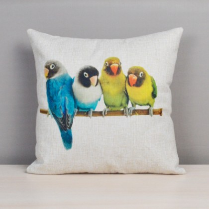Colorful Bird Cushion Cover D