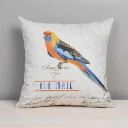Colorful Bird Cushion Cover B