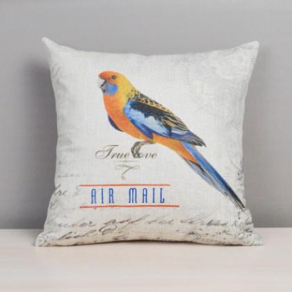 Colorful Bird Cushion Cover B