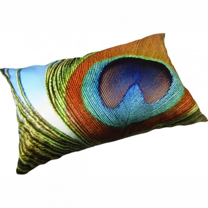Peacock Feather Eyes Cushion Cover-D