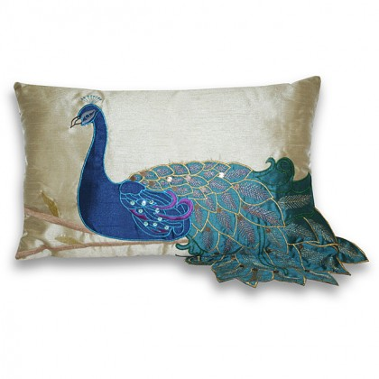 Fancy Peacock Cushion Cover