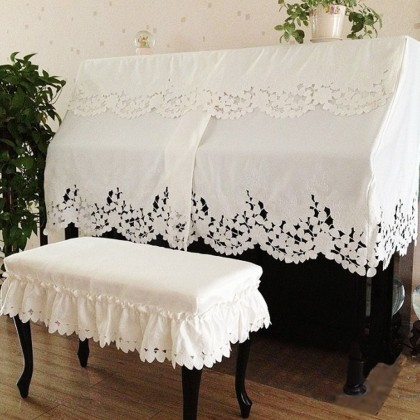 Elegant Piano Cover, White