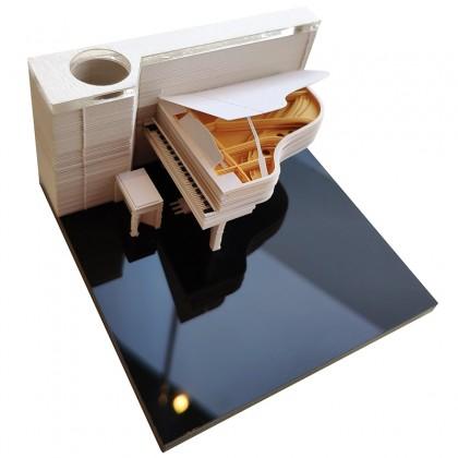 Piano 3D Paper Art Memo Pad