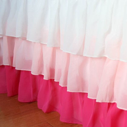 Pink Ruffle Bed Skirt
