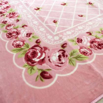 Pink Chic Rose Rug