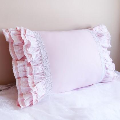 Lace Love Pillow Sham, Light Pink