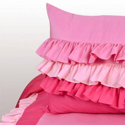 Sweet Candy Ruffle Duvet Cover Set