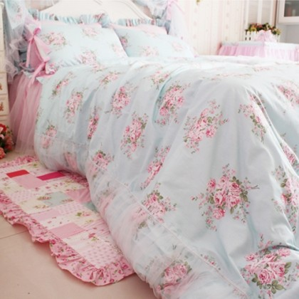 Shabby Rose Duvet Cover Set