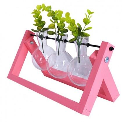 Pink Flower Vase Hydroponic Planter
