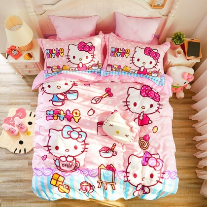 Hello Kitty Cooking Duvet Cover Set
