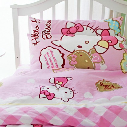 Pink Hello Kitty Brushed Cotton Duvet Cover