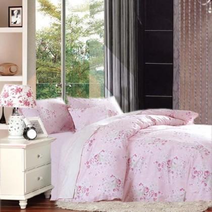 Pink Cottage Rose Egyptian Cotton Duvet Cover Set