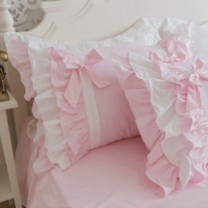 Princess Pink Ruffle Duvet Cover Set