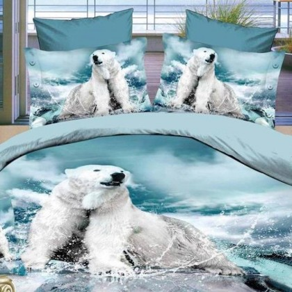 Polar Bear Duvet Cover Set