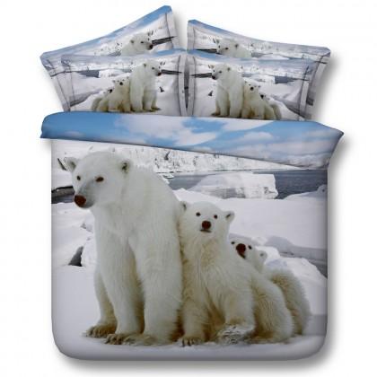 Polar Bear Duvet Cover Set