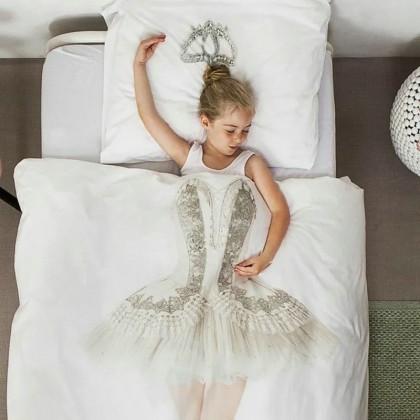 Kids Princess Ballet Dancer Duvet Cover Set