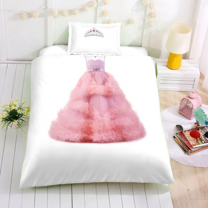 Pink Princess Dress Duvet Cover Set
