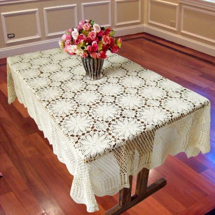 Sunflower  Crochet Tablecloth