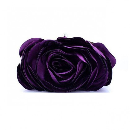 3D Rose Purse,  Purple